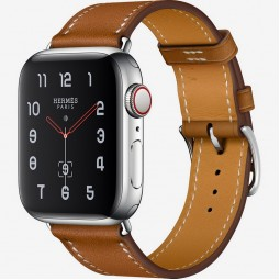 Apple Watch Hermes 40mm Series 4 GPS+Cellular Stainless Steel Case with Fauve Barenia Leather Single Tour (MU6M2)