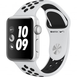 Apple Watch Nike+ 38mm Series 3 GPS Silver Aluminum Case with Pure Platinum/BlackSport Band (MQKX2)