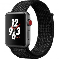 Apple Watch Nike+ 42mm Series 3 GPS+Cellular Space Gray Aluminum Case with Black/Pure PlatinumSport (MQLF2)