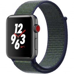 Apple Watch Nike+ 42mm Series 3 GPS+Cellular Space Gray Aluminum Case with Midnight Fog Nike Sport Loop (MQLH2)