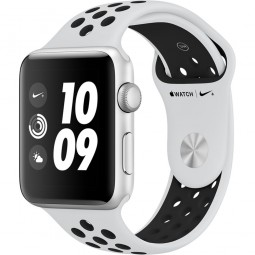Apple Watch Nike+ 42mm Series 3 GPS Silver Aluminum Case with Pure Platinum/BlackSport Band (MQL32)