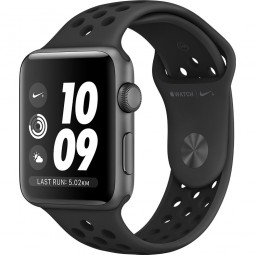 Apple Watch Nike+ 42mm Series 3 GPS Space Gray Aluminum Case with Anthracite/BlackSport Band (MQL42)