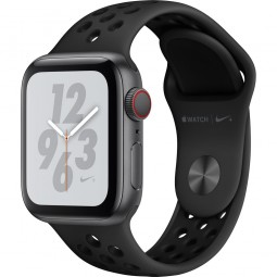 Apple Watch Nike+ 40mm Series 4 GPS+Cellular Space Gray Aluminum Case with Anthracite/Black Nike Sport Band (MTX82)