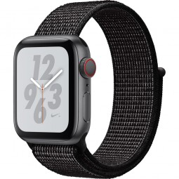 Apple Watch Nike+ 40mm Series 4 GPS+Cellular Space Gray Aluminum Case with Black Nike Sport Band (MTX92)