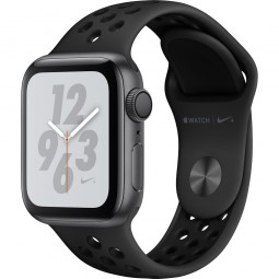 Apple Watch Nike+ 40mm Series 4 GPS Space Gray Aluminum Case with Anthracite/Black Nike Sport Band (MU6J2)