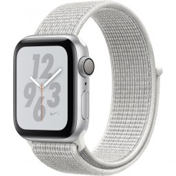 Apple Watch Nike+ 40mm Series 4 GPS Silver Aluminum Case with Summit White Nike Sport Band (MU7F2)
