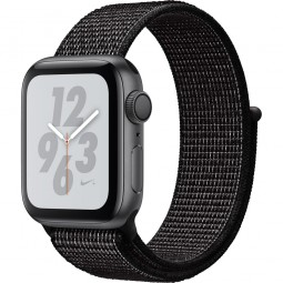 Apple Watch Nike+ 40mm Series 4 GPS Space Gray Aluminum Case with Black Nike Sport Band (MU7G2)