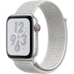 Apple Watch Nike+ 44mm Series 4 GPS+Cellular Silver Aluminum Case with Summit White Nike Sport Band (MTXA2)