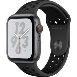 Apple Watch Nike+ 44mm Series 4 GPS+Cellular Space Gray Aluminum Case with Anthracite/Black Nike Sport Band (MTXE2)