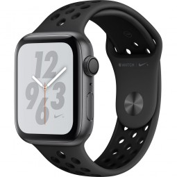 Apple Watch Nike+ 44mm Series 4 GPS Space Gray Aluminum Case with Anthracite/Black Nike Sport Band (MU6L2)