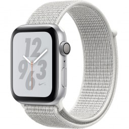 Apple Watch Nike+ 44mm Series 4 GPS Silver Aluminum Case with Summit White Nike Sport Band (MU7H2)