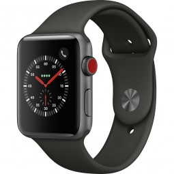 Apple Watch 42mm Series 3 GPS+Cellular Space Gray Aluminum Case with Gray Sport Band (MR2X2, MR302)