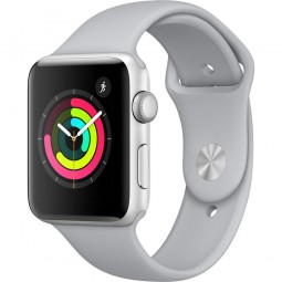 Apple Watch 42mm Series 3 GPS Silver Aluminum Case with Fog Sport Band - Silver (MQL02)