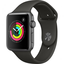 Apple Watch 42mm Series 3 GPS Space Gray Aluminum Case with Gray Sport Band - Space Gray (MR362)