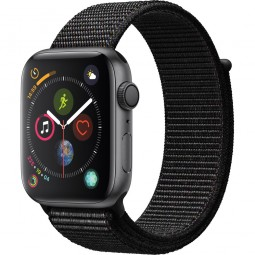 Apple Watch 44mm Series 4 GPS Space Gray Aluminum Case with Black sport Band (MU6E2)