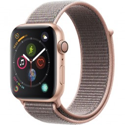 Apple Watch 44mm Series 4 GPS Gold Aluminum Case with Pink Sand sport Band (MU6G2)