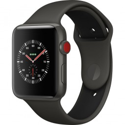 Apple Watch Edition 42mm Series 3 GPS+Cellular Gray Ceramic Case with Gray/Black Sport Band (MQKE2)