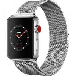 Apple Watch 42mm Series 3 GPS+Cellular Stainless Steel Case with Milanese Loop (MR1J2)