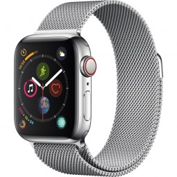 Apple Watch 40mm Series 4 GPS+Cellular Stainless Steel Case with Milanese Band (MTUM2)