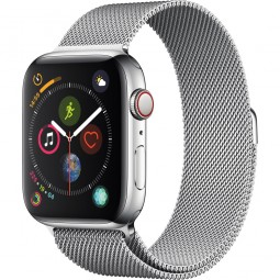 Apple Watch 44mm Series 4 GPS+Cellular Stainless Steel Case with Milanese Band (MTV42)